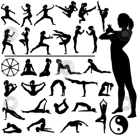 cutcaster-photo-100061688-Fitness-Women-Martial-Arts-Yoga