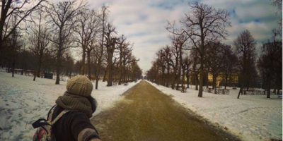Selfie while roaming Schunbrunn Gardens in Vienna by Passainte Assem