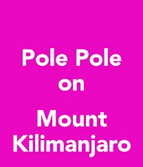 Pole Pole which means Slowly Slowly in Swahili (on the web)