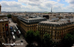 Paris from the top of Gallerie de Lafayette