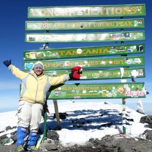 Me on the summit of Mt. Kilimanjaro
